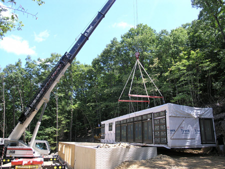 Link to A Prefab Project delivery and set!