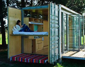 Link to Port-a-bach: shipping container holiday homes from New Zealand