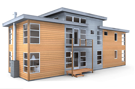 Prefab and modular homes available sips prefabcosm for Sip panel kit homes