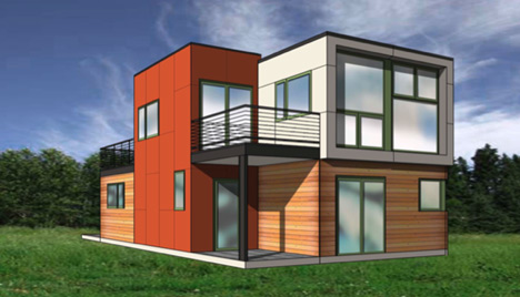 Link to West Coast Green container Showhouse from SG Blocks